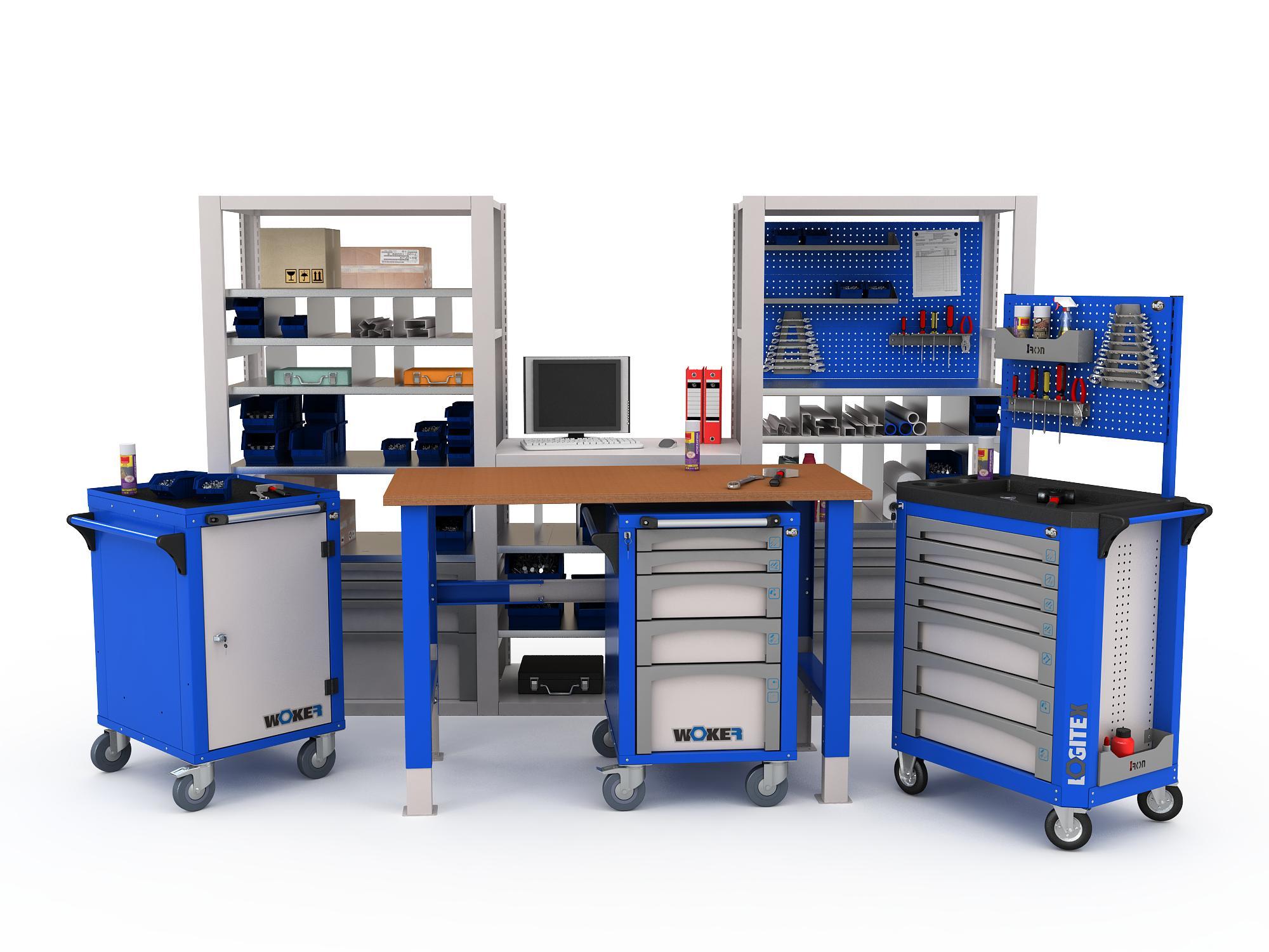 Производственная мебель, ее особенности и разновидности